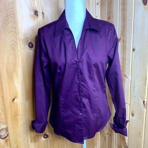 Calvin Klein eggplant non iron button up shirt 8